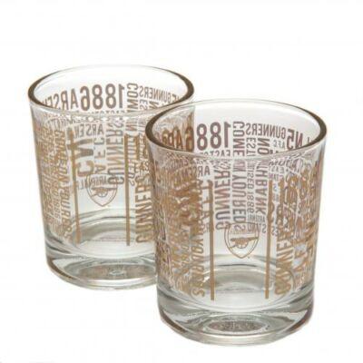 Arsenal whiskys pohár szett