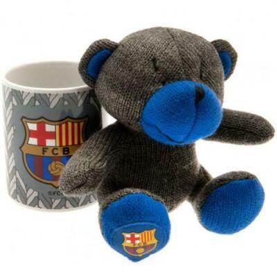 FC Barcelona kerámia bögre plüss mackóval