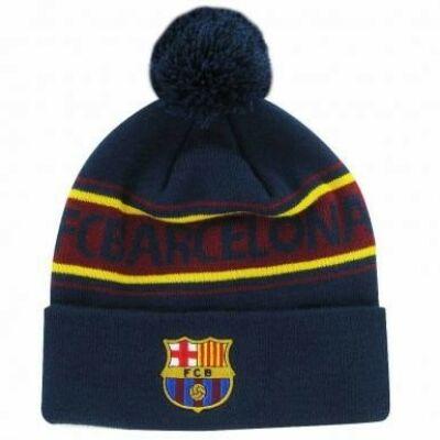 FC Barcelona bojtos kötött sapka