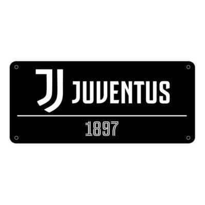 Juventus fekete utcatábla