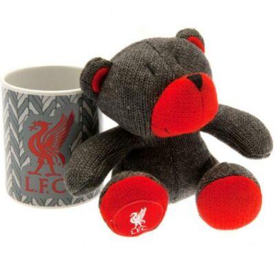 Liverpool kerámia bögre plüss mackóval