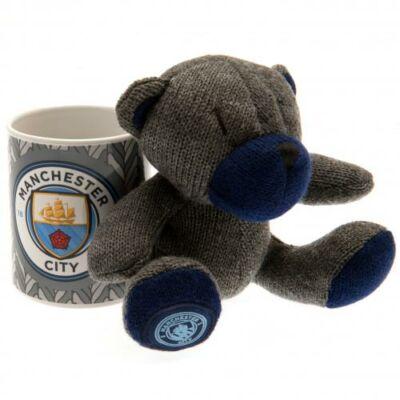 Manchester City kerámia bögre plüss mackóval