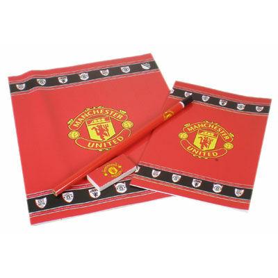 Manchester United füzet készlet, radírral, ceruzával
