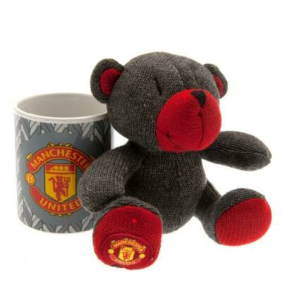 Manchester United kerámia bögre plüss mackóval