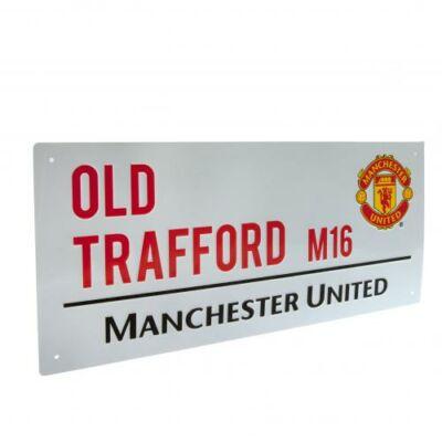 Manchester United utcatábla TRAFFORD