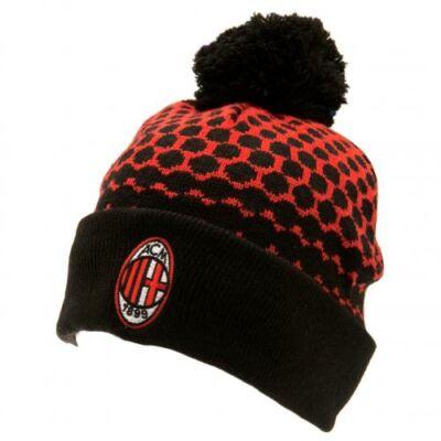 AC Milan bojtos kötött sapka