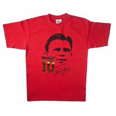 Puskás piros póló