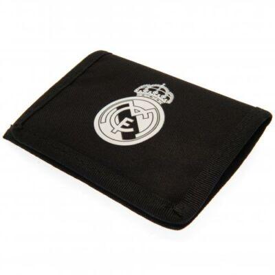 Real Madrid tépőzáras pénztárca NEGRO