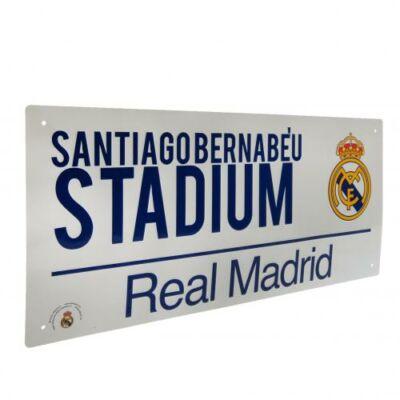 Real Madrid utcatábla feehér